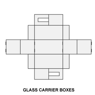 COLORFUL GLASS CARRIER BOXES