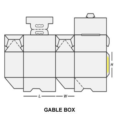 CUSTOM PRINTED GABLE BOX 1
