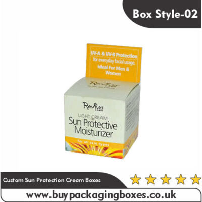 Custom Sun Protection Cream Boxes