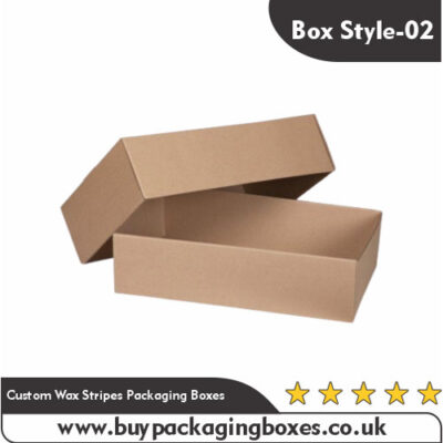 Custom Wax Stripes Packaging Boxes