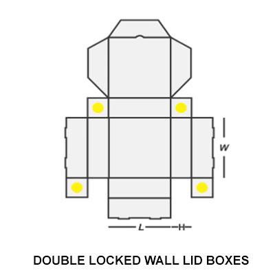 DOUBLE LOCKED WALL LID BOX