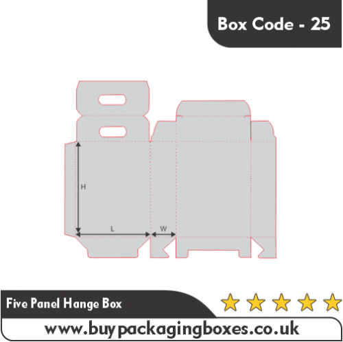 FIVE PANEL HANGER BOXES