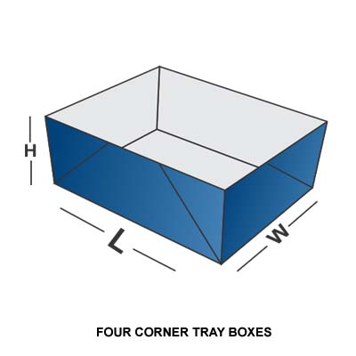 FOUR CORNER TRAY BOX