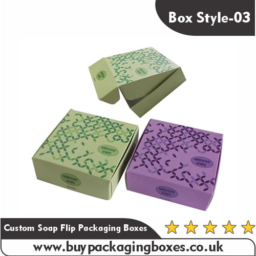 Custom Printed Soap Flip Packaging Boxes