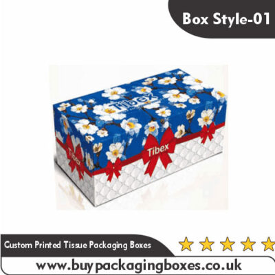 Custom Printed Tissue Packaging Boxes