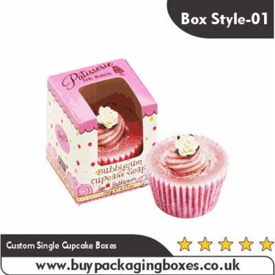 Custom Single Cupcake Boxes