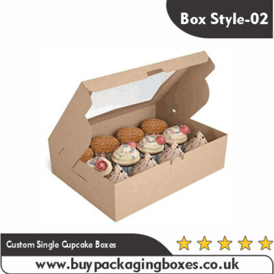 Custom Single Cupcake Boxes