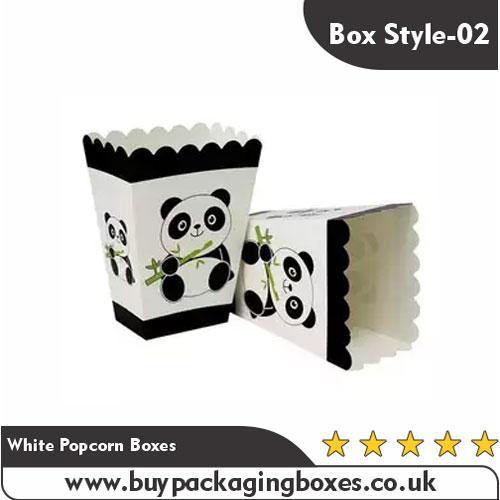 White Popcorn Boxes