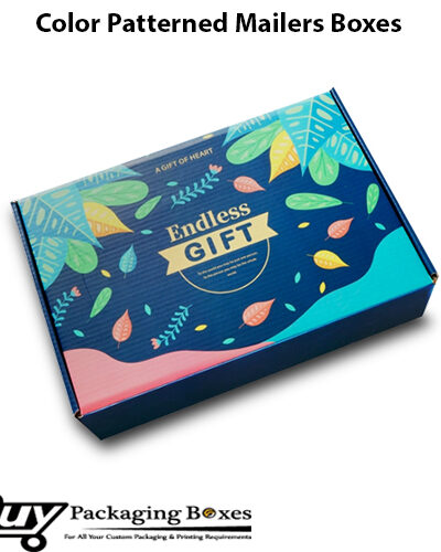 Color Patterned Mailer Boxes