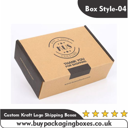 Custom Kraft Logo Shipping Boxes