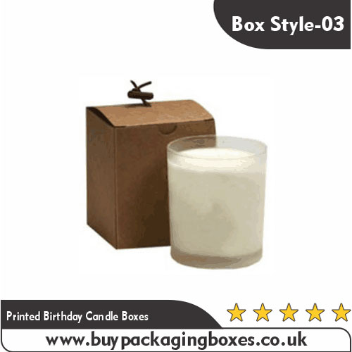 Printed Birthday Candle Boxes