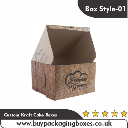 Custom Kraft Cake Boxes