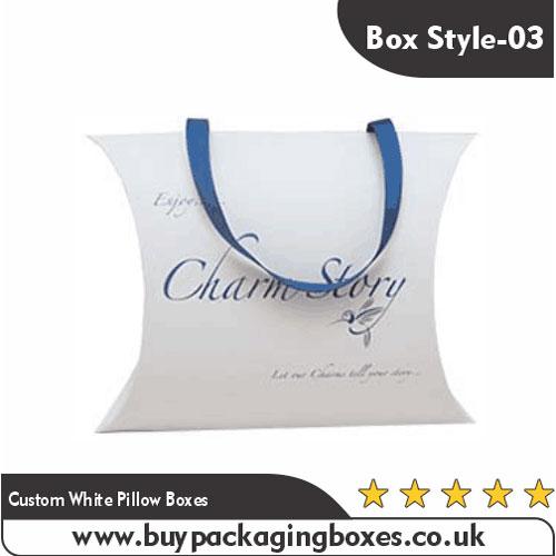 Custom White Pillow Boxes