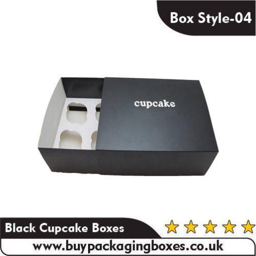 Custom Black Cupcake Boxes